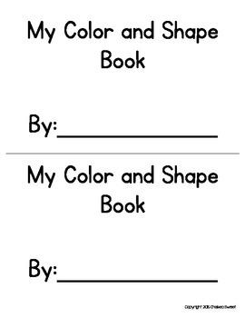 Color and Shape *Emergent Reader* FREEBIE