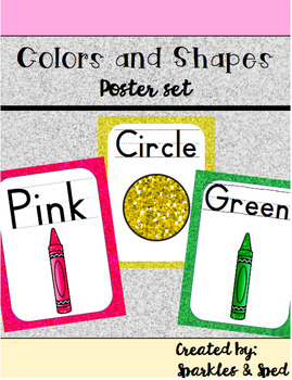 Color and Shape Freebie Poster Set