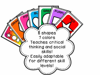Color and Shape Match Card Game for Preschool