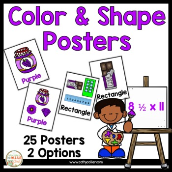 Color and Shape Poster Set