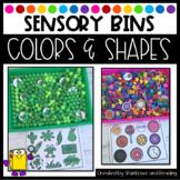 Color and Shape Sensory Bins
