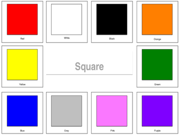 Color and Shape Sort Printable