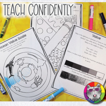 Color Wheel and Color Art Lessons for Primary - Distance Learning Art Activity