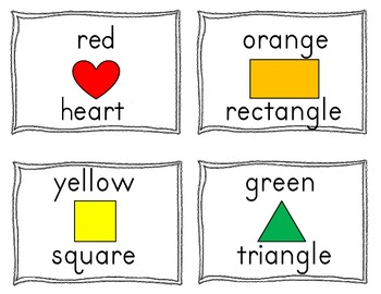 Color and Shape Word Practice