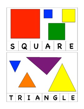 Color and Shape Word Puzzles