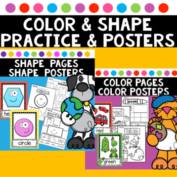 Color and Shape Worksheet Activities Color and Shape Posters