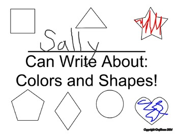 Color and Shape Writing Journal