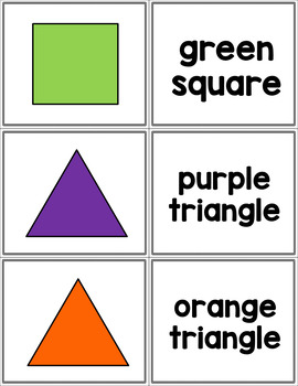 Color and Shape Matching Cards