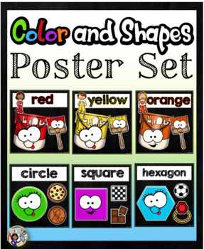 Color and Shapes Poster Set