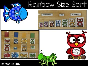 Color and Size Sort For Preschool and Kindergarten