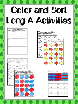 Color and Sort Long A and Short A Activities