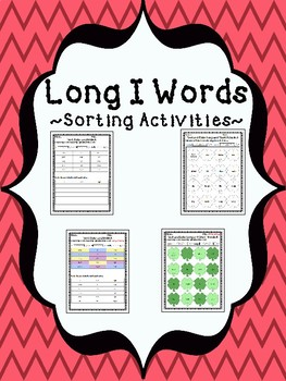 Color and Sort Long I and Short I Activities