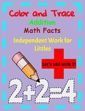 Color and Trace Math Facts Independent Work for Littles