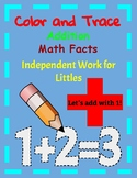 Color and Trace Math Facts for Independent Work for Littles