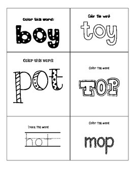 Color and Trace Words