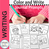 Daily Journal Prompts with Pictures to Encourage Writing in Kindergarten