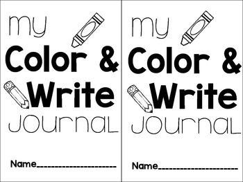 Color and Write Journals for Little Learners: Fall Edition