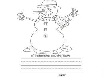 Color and Write on these Black and White Printables