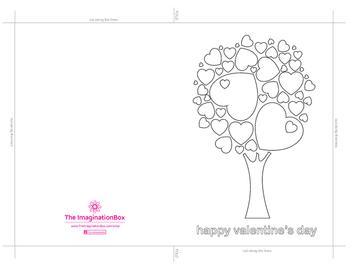 Free Valentines Day 'Tree of Hearts' Card art activity