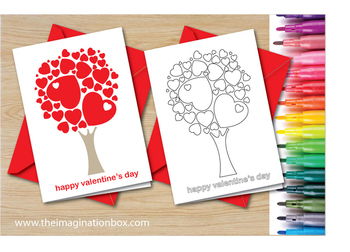Free Valentines Day Coloring pages -  card making activity