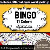 Color bingo Spanish | Bingo 'Los Colores en Español'