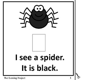 Color Black-adapted book for Early Childhood, Autism, and Special Education