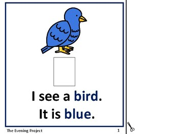 Color Blue-an adapted book for Early Childhood, Autism, and Special Education