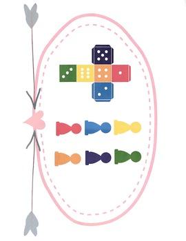 Mandarin Chinese Color board game 颜色棋盘游戏