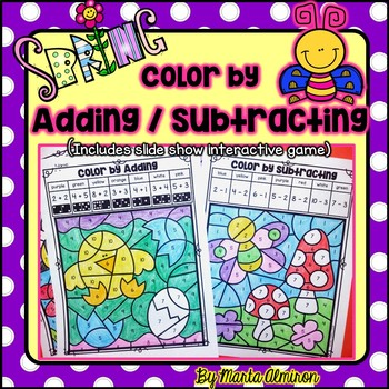Color by ADDING/SUBTRACTING {SPRING}