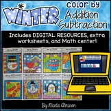 Color by ADDING/SUBTRACTING {WINTER}