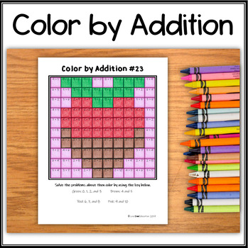 Color by Addition – Hidden Picture #A23 – Chocolate Strawberry