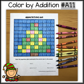 Color by Addition - Hidden Picture – Christmas Tree