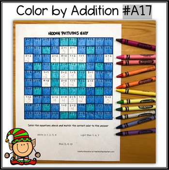 Color by Addition - Hidden Picture - Snowflake