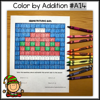 Color by Addition - Hidden Picture - Winter Hat