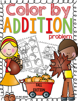 Color by Addition Problem-Fall Edition