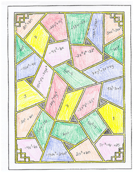 Color by Algebra - Polynomials