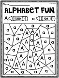 Color by Letter Alphabet Worksheets Pack (Letter Recognition Worksheets)