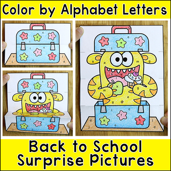 Color by Alphabet Letters Differentiated Surprise Pictures