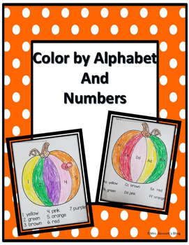 Color by Alphabet and Number Pumpkin Morning Work