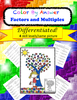 Color by Answer Factors and Multiples Differentiated