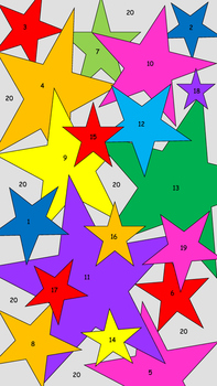 Color by Atomic Number (Stars)