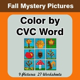 Color by CVC Word - Autumn (Fall) Mystery Pictures