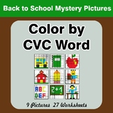Color by CVC Word - Back To School Mystery Pictures