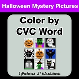 Color by CVC Word - Halloween Mystery Pictures