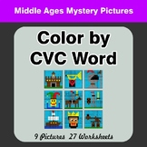 Color by CVC Word - Middle Ages Mystery Pictures