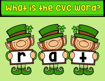 Color by CVC Word - ST. PATRICK'S DAY