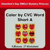 Color by CVC Word | Short a - Valentine's Day Emoji Mystery Pictures