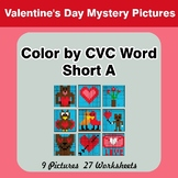 Color by CVC Word | Short a - Valentine's Day Mystery Pictures