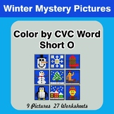 Color by CVC Word | Short o - Winter Mystery Pictures