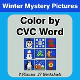 Color by CVC Word - Winter Mystery Pictures